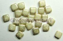 Tile gyöngy - Alabaster Gold Luster - 6x6mm