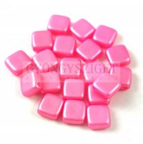 Tile gyöngy - Gold Shine Pink - 6x6mm