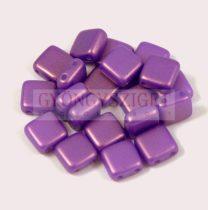 Tile gyöngy - Gold Shine Purple - 6x6mm