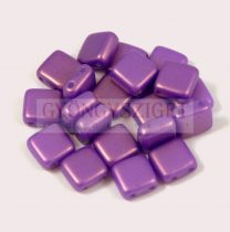 Tile gyöngy - Gold Shine Purple - 6x6mm