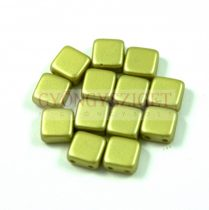 Tile gyöngy - pastel light olive - 6x6mm