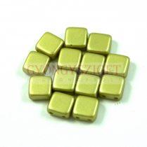 Tile gyöngy - pastel light olive - 6x6mm