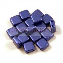 Tile gyöngy - pastel indigo - 6x6mm