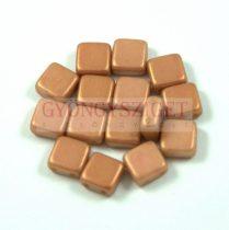 Tile gyöngy - powder golden shine - 6x6mm