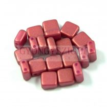 Tile gyöngy - pommegranate golden shine - 6x6mm