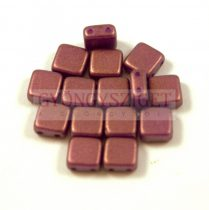 Tile gyöngy - purple bronze golden shine - 6x6mm