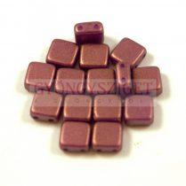 Tile gyöngy - purple bronze golden shine - 6x6mm