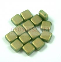 Tile gyöngy - mint golden shine - 6x6mm