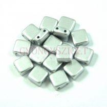 Tile gyöngy - silver metallic satin - 6x6mm
