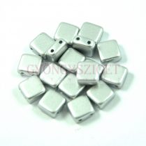 Tile gyöngy - silver metallic satin - 6x6mm