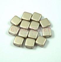 Tile gyöngy - walnut metallic satin - 6x6mm