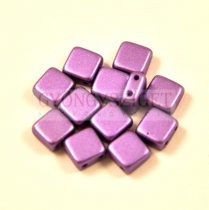 Tile gyöngy - lavender metallic satin - 6x6mm