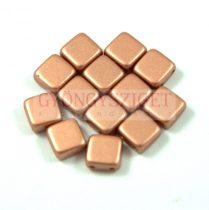 Tile gyöngy - copper metallic satin - 6x6mm