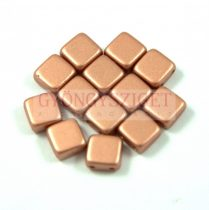 Tile gyöngy - copper metallic satin - 6x6mm