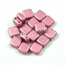 Tile gyöngy - powder rose metallic satin - 6x6mm