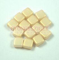 Tile gyöngy - vanilla metallic satin iris - 6x6mm