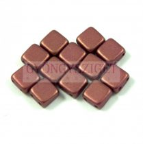 Tile gyöngy - mauve metallic satin iris - 6x6mm
