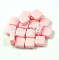 Tile gyöngy -  luminous pastel pink - 6x6mm
