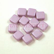 Tile gyöngy -  luminous pastel purple - 6x6mm