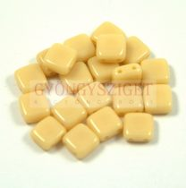 Tile gyöngy - Cream - 6x6mm