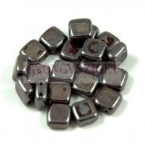 Tile gyöngy -  Dark Chocolate Luster - 6x6mm
