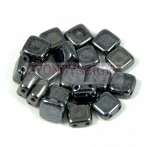 Tile gyöngy - Hematit - 6x6mm
