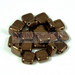 Tile gyöngy - Dark Bronze - 6x6mm
