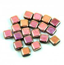 Tile gyöngy - Rose Gold - 6x6mm