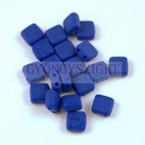 Tile gyöngy -  Opaque Sapphire Matt - 6x6mm