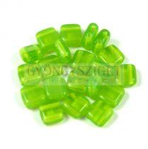 Tile gyöngy - Opal Green - 6x6mm