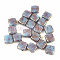 Tile gyöngy -  Turquoise Blue Purple Bronze Luster - 6x6mm - 100db - AKCIOS