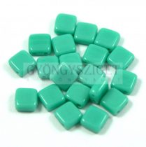 Tile gyöngy -  Opaque Turquoise Green - 6x6mm- 100db