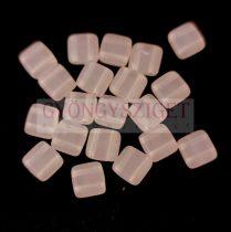 Tile gyöngy - Opal Matt Pink - 6x6mm