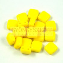 Tile gyöngy -  Opaque Yellow - 6x6mm