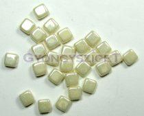 Tile gyöngy -  Opaque Lemon Luster - 6x6mm