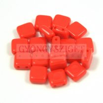 Tile gyöngy - Opaque Red - 6x6mm - 100db