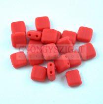 Tile gyöngy -  Opaque Red Matt - 6x6mm