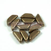 Tinos® par Puca®gyöngy - golden bronz - 4x10 mm