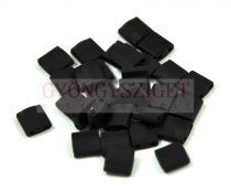 Miyuki tila gyöngy - 401f - matt fekete - 5x5mm - 10g-AKCIOS