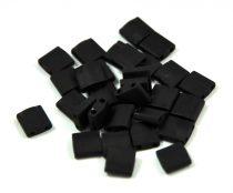 Miyuki tila gyöngy - 401f - matt fekete - 5x5mm