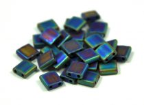 Miyuki tila gyöngy - 401fr - Matte Rainbow Black - 5x5mm