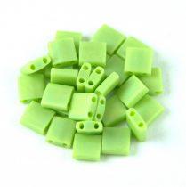 Miyuki tila gyöngy - 416fr - Matte Rainbow Chartreuse - 5x5mm - 10g - AKCIOS