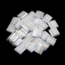 Miyuki tila gyöngy - 420 - ceylon fehér - 5x5mm