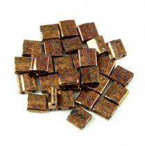 Miyuki tila gyöngy - 457b - Metallic Dark Raspberry Iris (Bronze)- 5x5mm