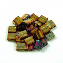 Miyuki tila gyöngy - 462 - arany írisz - 5x5mm