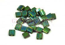 Miyuki tila gyöngy - 468 - Gold Luster Metallic Green Iris - 5x5mm - 10g - AKCIOS