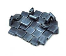 Miyuki tila gyöngy - 2001 -  matt metál hematit -5mm - 10g-AKCIOS