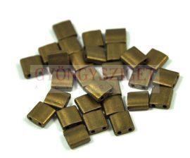 Miyuki tila gyöngy - 2006 - matt metál bronz -5mm - 10g-AKCIOS