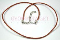 Textil nyakláncalap - barna - delfinkapoccsal - 45 cm
