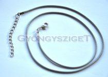 Textil nyakláncalap - ezüst szürke - delfinkapoccsal - 45 cm